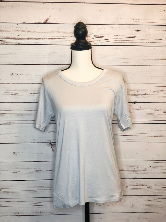 Scoop Neck Box Tee - Grey Mist