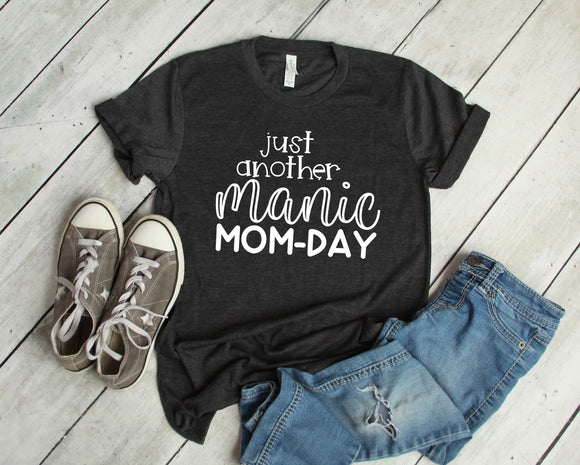 Just Another Manic Mom-Day Tee - Black