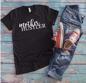 Mother Hustler T-Shirt - Charcoal Black