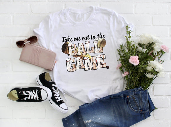 Take Me Out to The Ball Game ~ Baseball Tee