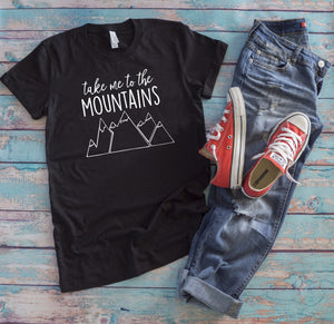 Take me to the Mountains T-Shirt - Charcoal Black