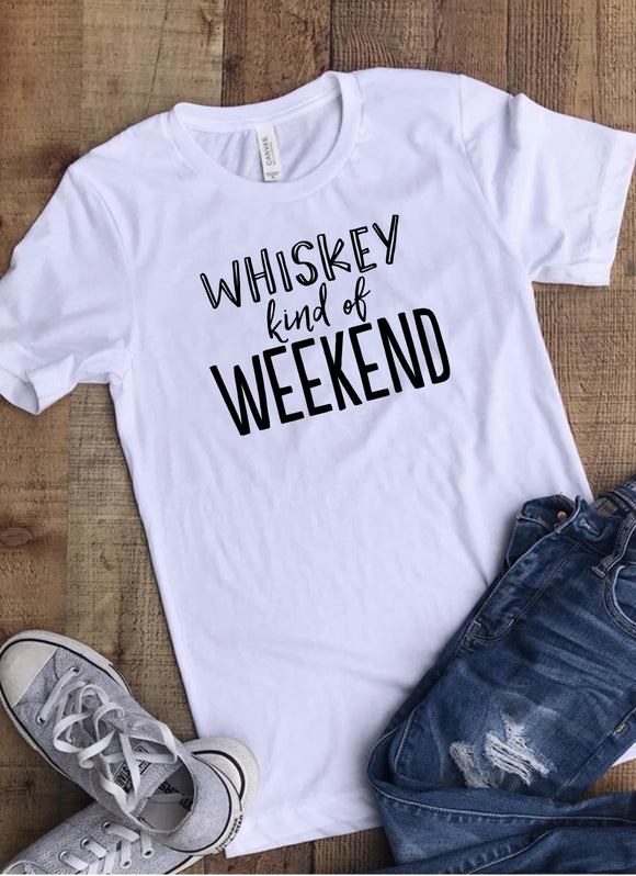 Whiskey Kind of Weekend T-shirt - White
