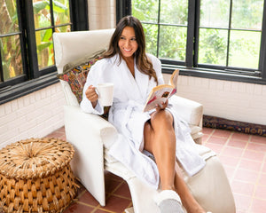 Premium Waffle Robe - plush towel | 100% Turkish cotton
