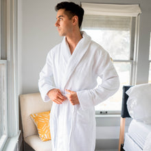 Load image into Gallery viewer, Premium Waffle Robe - plush towel | 100% Turkish cotton