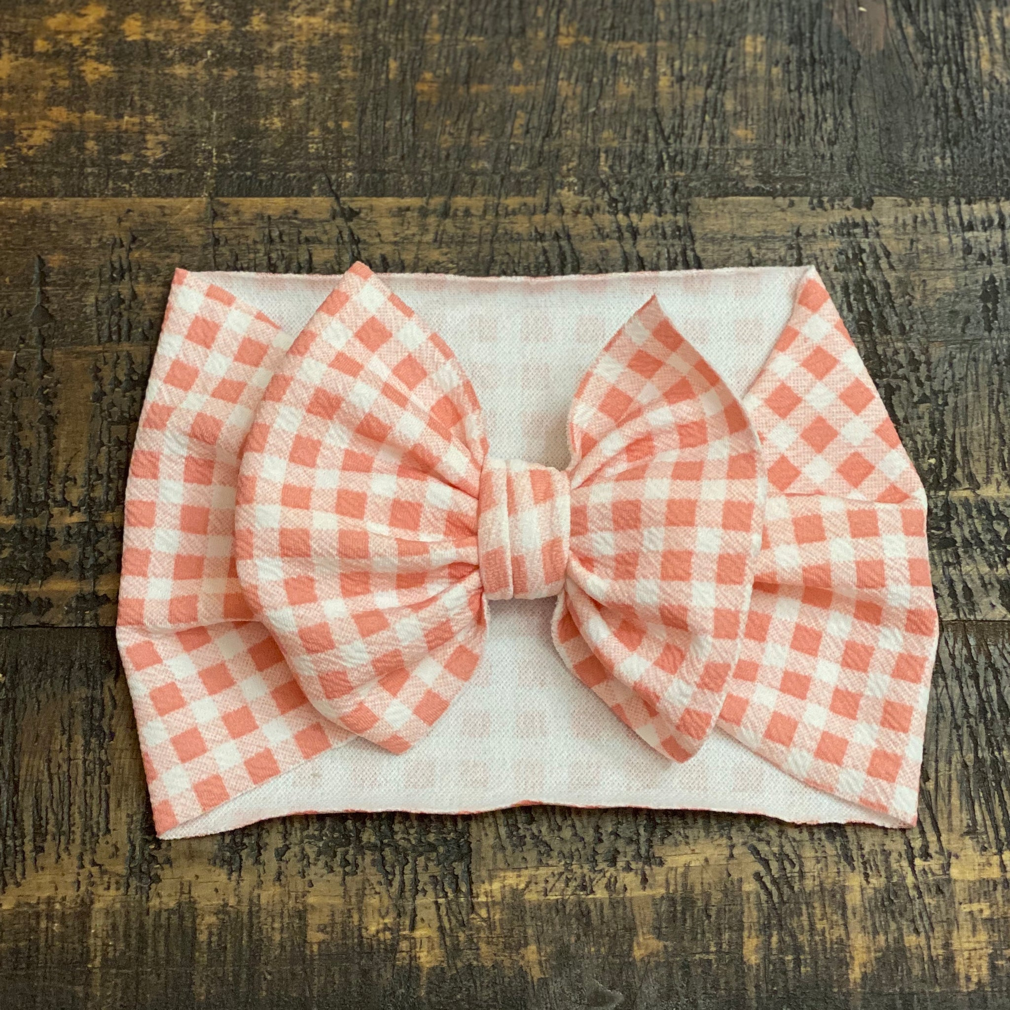Dusty Pink Gingham Headwrap