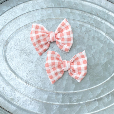 Dusty Pink Gingham Piggies