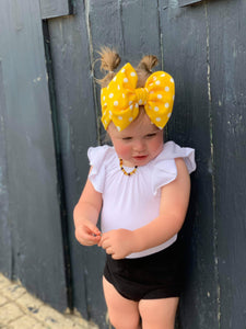 Yellow Polka Dot Headwrap