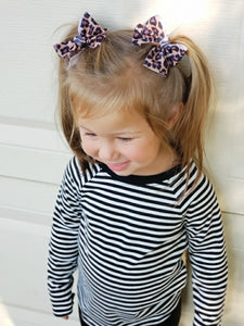 Fall Leopard Pigtails