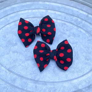 Black w/Red Polka Dot Piggies