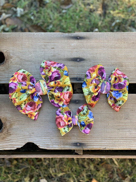 Lilliana Rose Floral Bows
