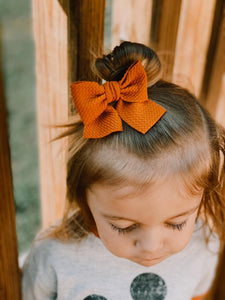 Burnt Orange Pigtails