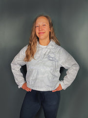 Women's 1/4 Zip Crop Windbreaker