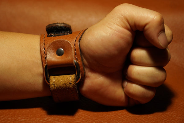 Brown Sugar High Top Wrist Wraps