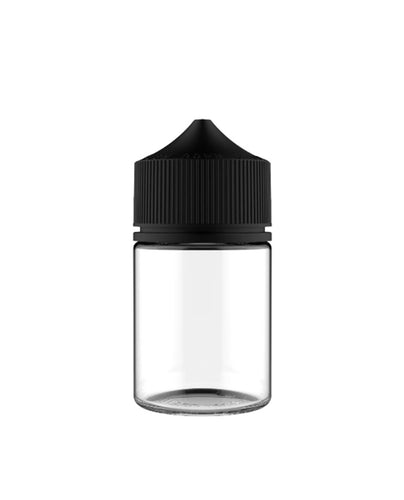 Frasco Unicorn 60ml V3 Clear Tampa Preta FAT (PACK)