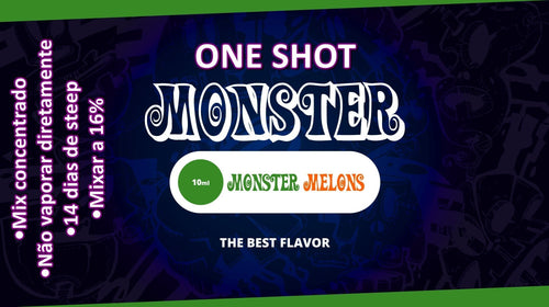 Monster OneShot Monster Melon 10ml - Flave Brasil