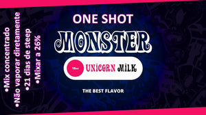 Monster OneShot Unicorn Milk 10ml - Flave Brasil