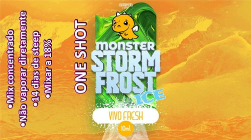Monster OneShot Vivo Fresh 10ml - Flave Brasil