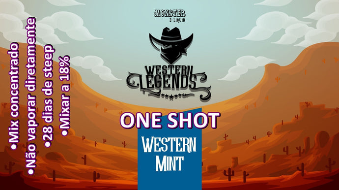 Monster OneShot Western Mint 10ml - Flave Brasil