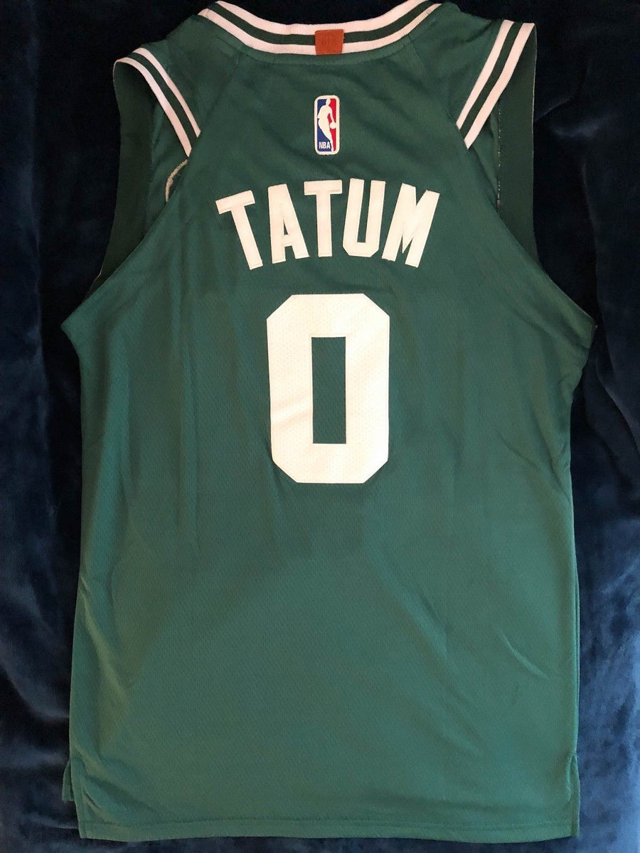 uk availability cddf9 37d75 Men 0 Jayson Tatum Jersey Green Boston Celtics Jersey Authentic Player