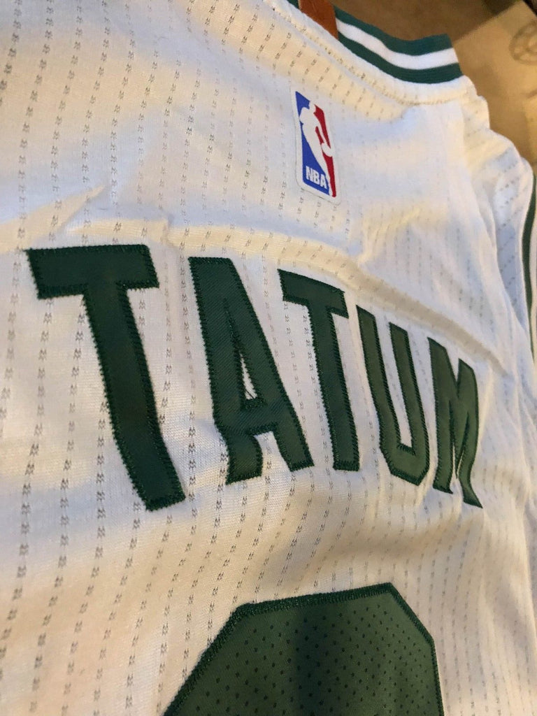 buy popular d505d 51eda Men 0 Jayson Tatum Jersey White Boston Celtics Jersey Player ...