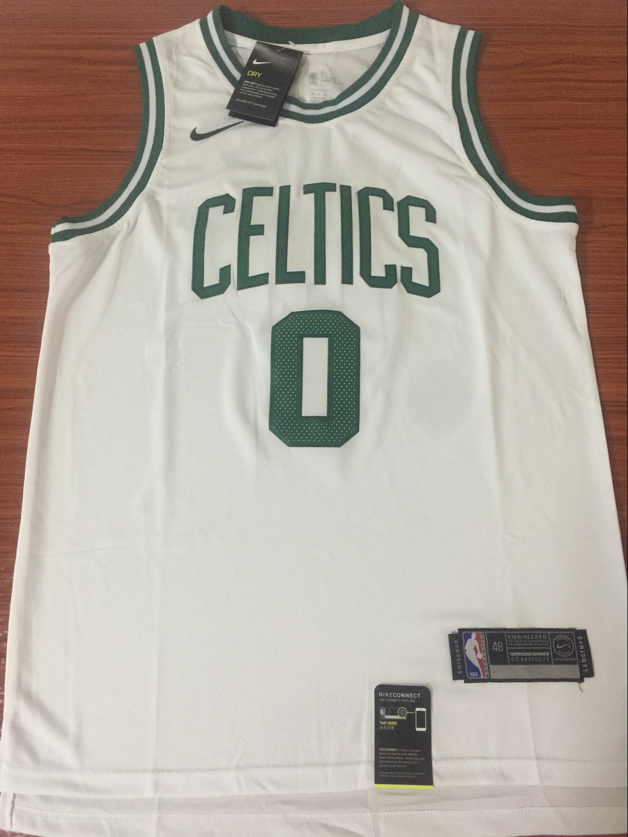 the latest 1947e 09bbb Men 0 Jayson Tatum Jersey White Boston Celtics Jersey Swingman Fanatics