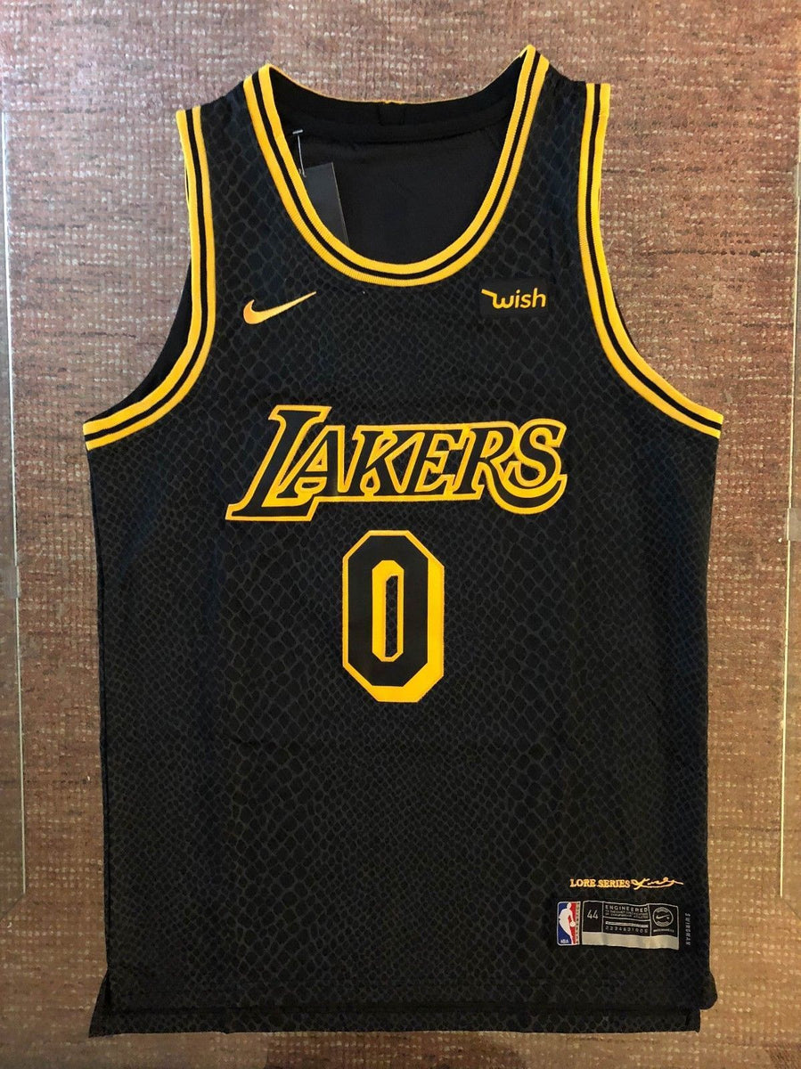 huge selection of a6b1b 0bdfc Men 0 Kyle Kuzma Jersey City Edition Black Los Angeles Lakers Authentic  Player