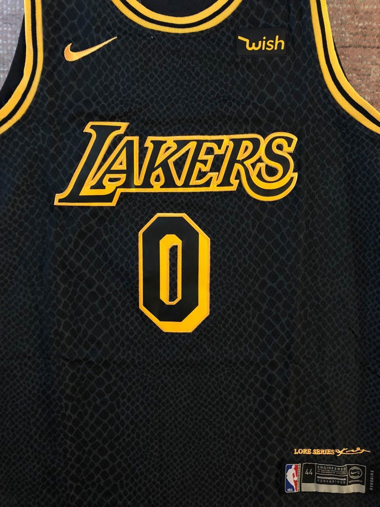 fbeb3c1a6d0 ... Men 0 Kyle Kuzma Jersey City Edition Black Los Angeles Lakers Authentic  Player ...