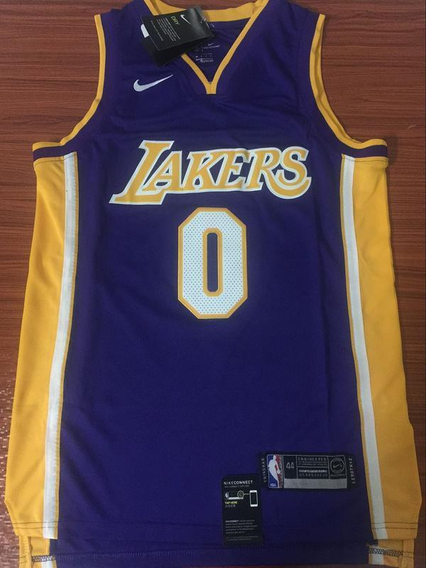 pretty nice 0ff06 f56f8 Men 0 Kyle Kuzma Jersey Purple Los Angeles Lakers Swingman Fanatics