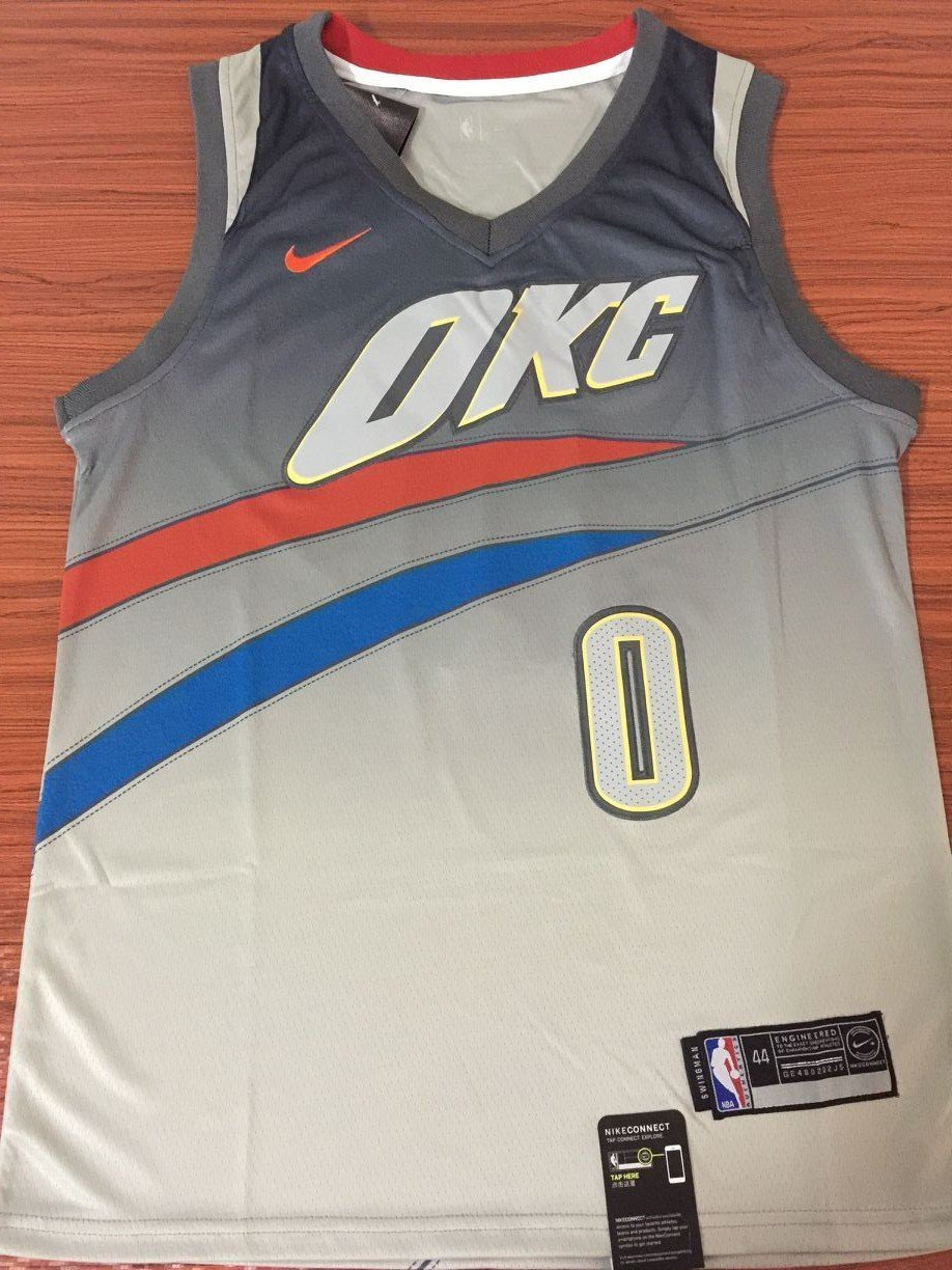 new concept 116fe 562dd Men 0 Russell Westbrook Jersey City Edition Oklahoma City ...