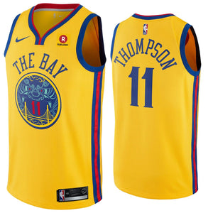 de744847f Men Golden State Warriors 11 Klay Thompson Jersey Yellow the Bay – nRevo