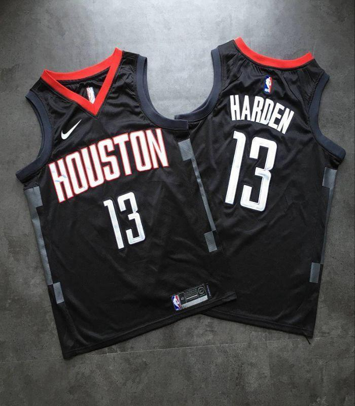check out 07383 30fa0 Men 13 James Harden Jersey Black Houston Rockets Swingman Special