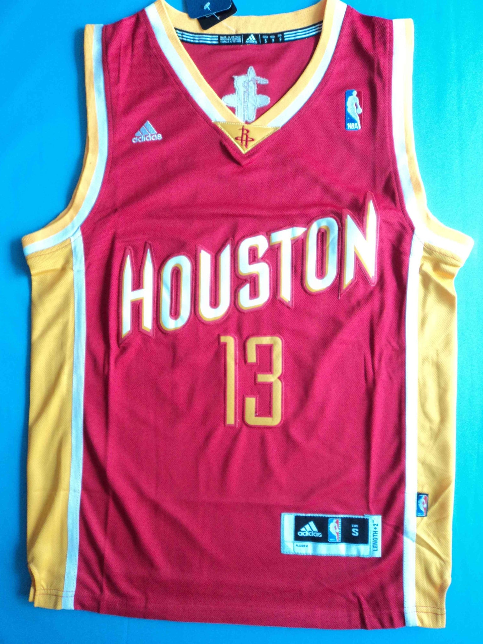 size 40 fc4fe 208ec Men 13 James Harden Swingman Jersey Red Yellow Houston Rockets Fanatics