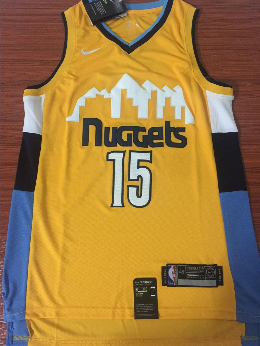 newest 57d0c c754c Men 15 Nikola Jokic Jersey Yellow Denver Nuggets Swingman Jersey Fanatics