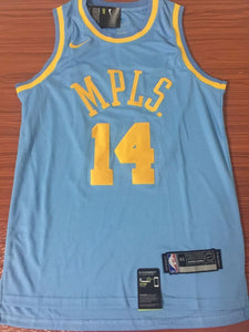 new arrival 3328d 1a829 Men 14 Brandon Ingram Jersey MPLS Blue Los Angeles Lakers ...