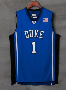 release date: 4d08f e56a5 Men 1 Kyrie Irving Jersey Blue color Duke Blue Devils ...