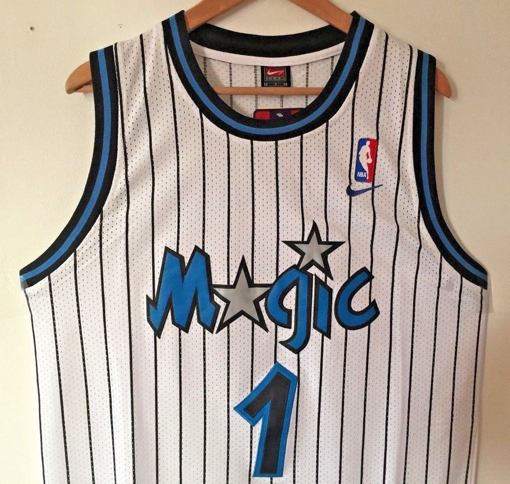 new product 007ca 35dd9 Men 1 Penny Hardaway Jersey White Orlando Magic Thowback ...