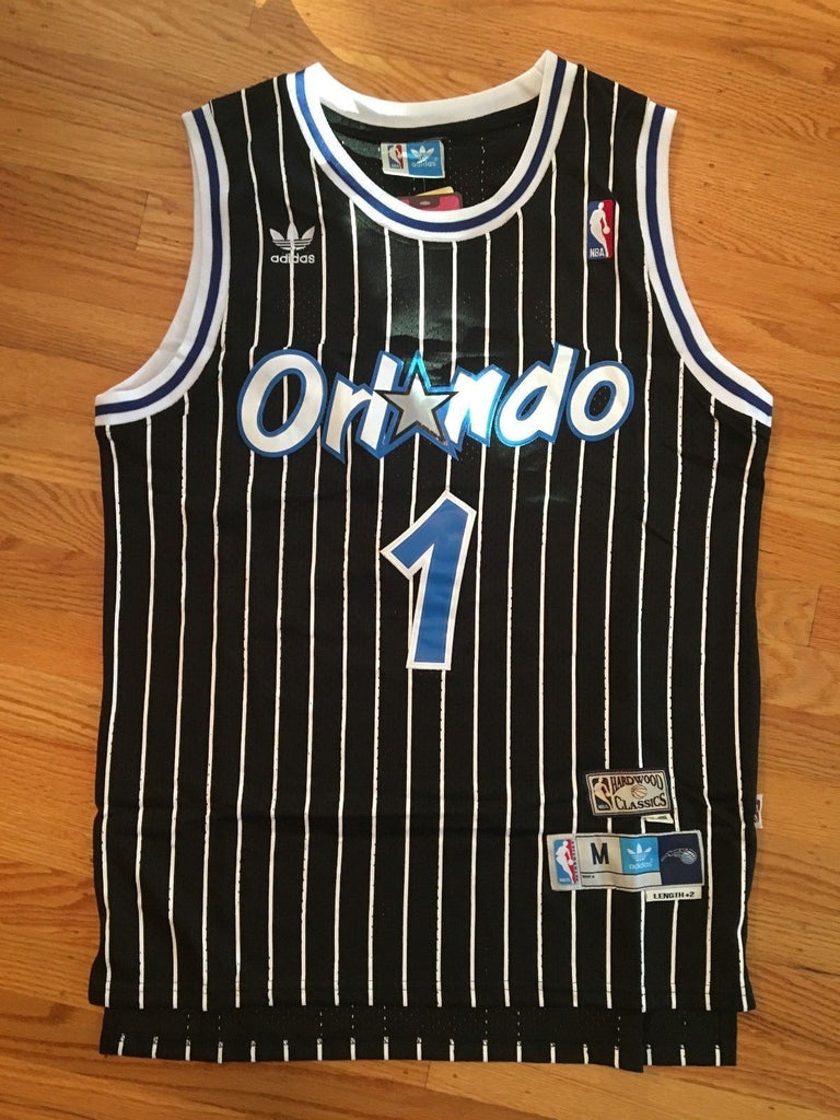 brand new 3bedc e6be9 Men 1 Tracy McGrady Jersey Black Orlando Magic Throwback ...