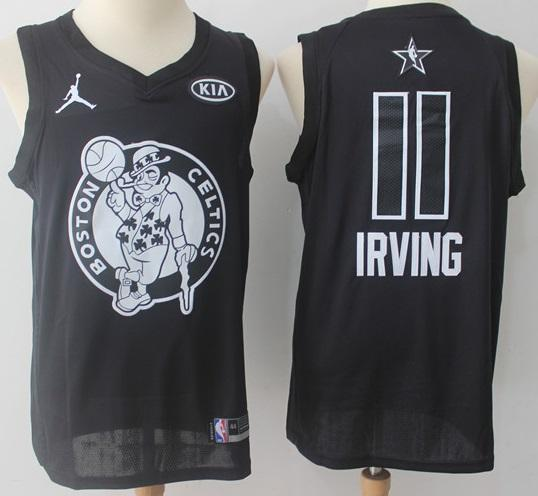 low priced fcf0f 604eb Men 2018 All Star 11 Kyrie Irving Jersey Black Boston Celtics