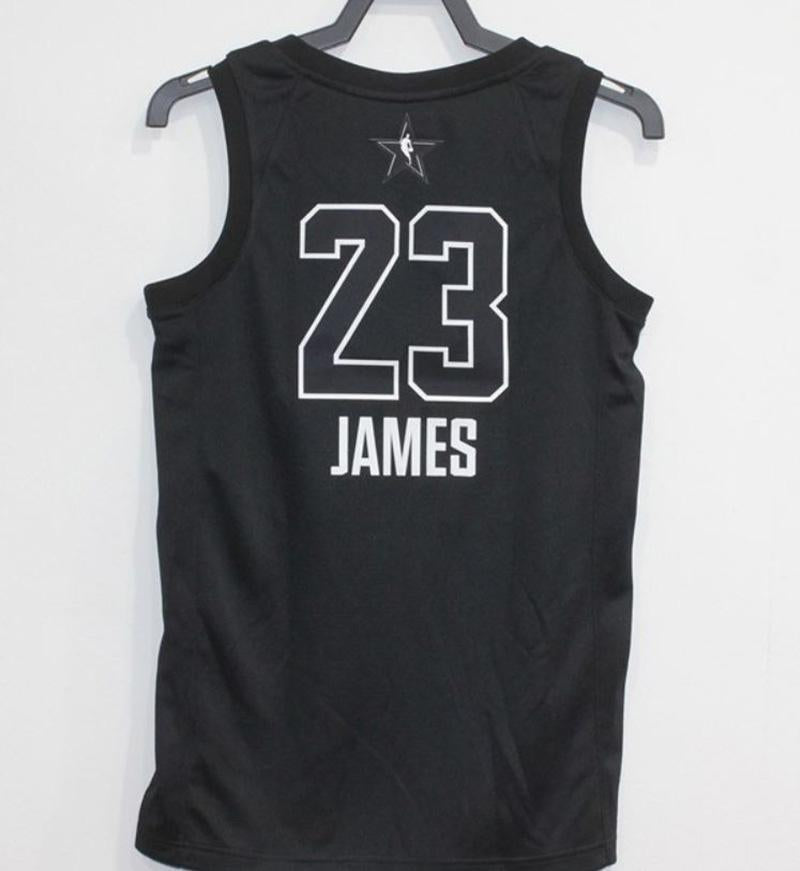 buy online c3e0f 482ac Men 2018 All Star CAVS 23Lebron James Jersey Black Cleveland Cavaliers
