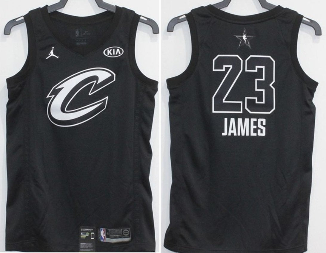 buy online 71ade a2fb6 Men 2018 All Star CAVS 23Lebron James Jersey Black Cleveland Cavaliers