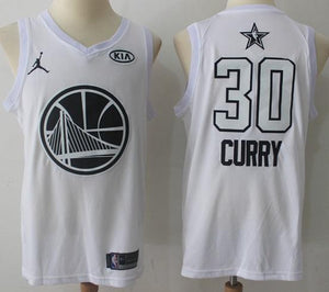low priced 76e72 ab199 Men 2018 All Star Stephen Curry Jersey White Golden State Warrior