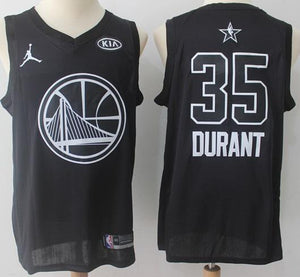 cheap for discount 5c273 b1bd4 Men 2018 All Star Kevin Durant Jersey Black Golden State Warriors
