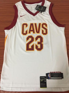 new product 1b06c bb4ca Men CAVS 23 Lebron James Jersey White Cleveland Cavaliers ...