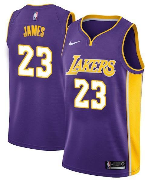 check out 660aa 6dc30 Men 23 Lebron James Jersey Purple Los Angeles Lakers Swingman Jersey