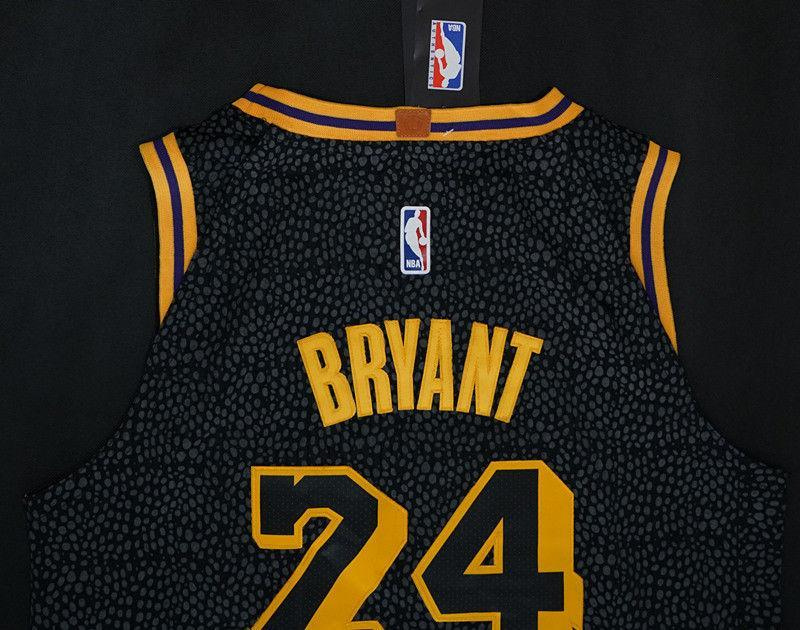 64ec2c82e3f ... Men 24 Kobe Bryant Jersey City Edition Black Los Angeles Lakers Jersey  Player ...