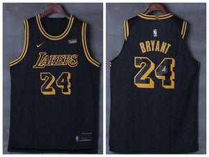 731cb36d214 Men 24 Kobe Bryant Jersey City Edition Black Los Angeles Lakers Jersey  Player