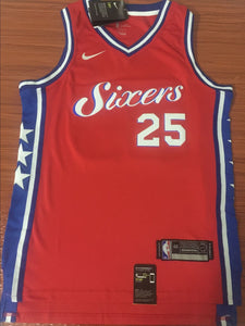b8e37d7537b Men 25 Ben Simmons 76ers Jersey Red City Edition Philadelphia 76ers Jersey