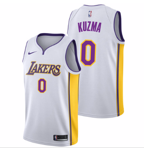 reputable site b421e b2322 Men 0 Kyle Kuzma Jersey White Los Angeles Lakers Jersey Fanatics