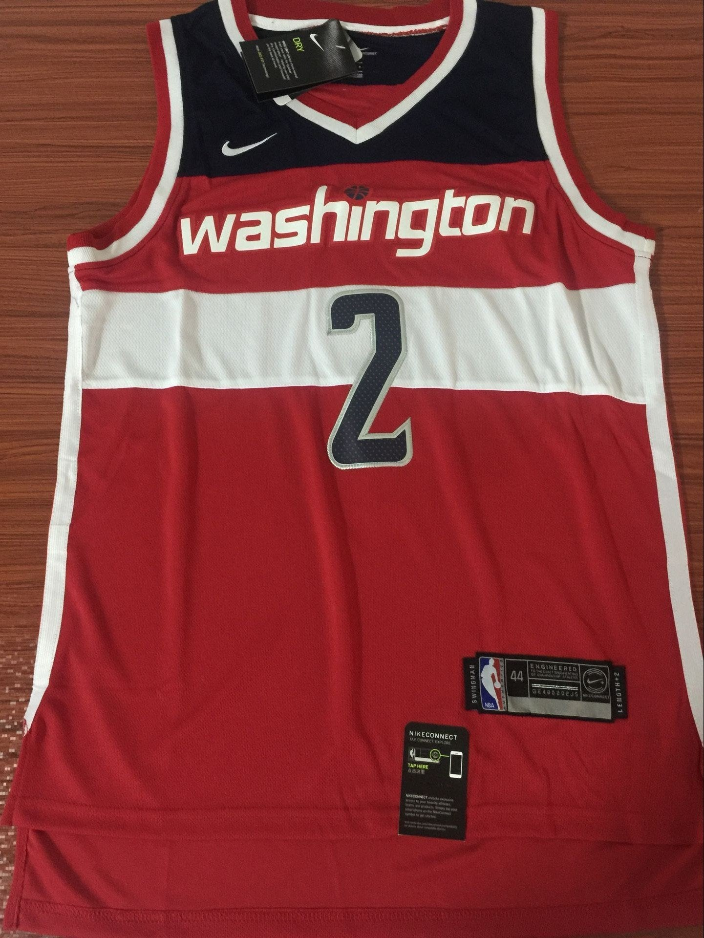 brand new 5e850 74845 Men 2 John Wall Jersey Red Washington Wizards Swingman ...