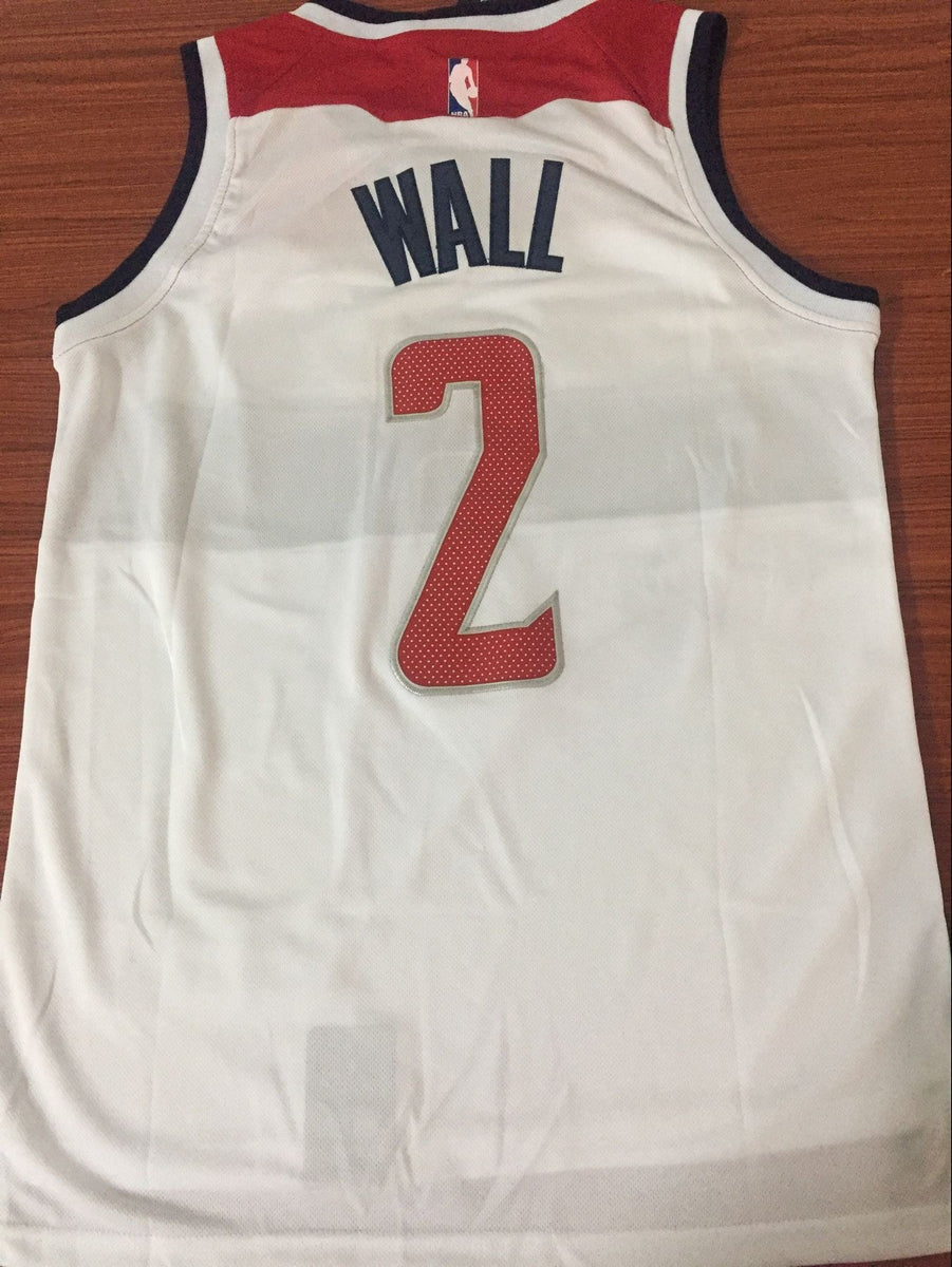 size 40 b6d08 10ab1 Men 2 John Wall Jersey White Washington Wizards Throwback Swingman Fanatics